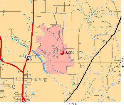 Milton, FL (32570) map