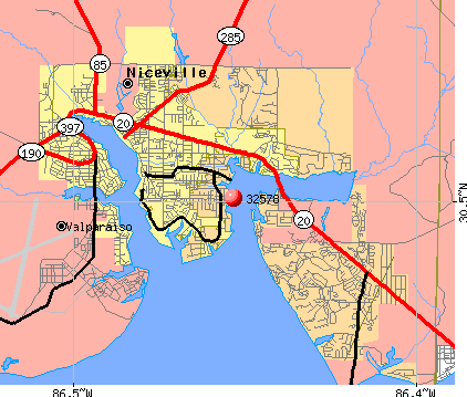 Niceville, FL (32578) map