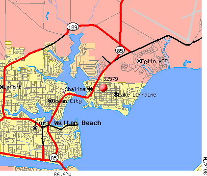 Eglin Afb Map Eglin Afb Zip Code Map