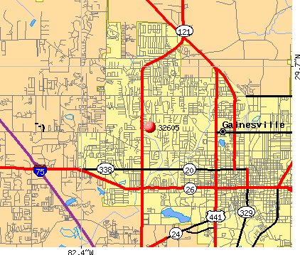 Gainesville, FL (32605) map
