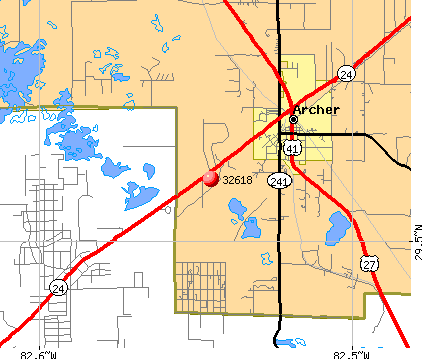 Archer, FL (32618) map