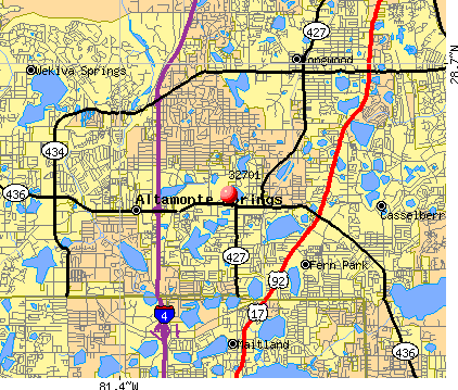 Altamonte Springs, FL (32701) map