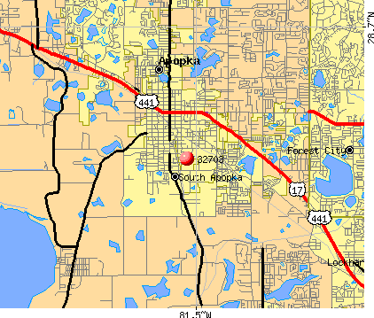 Apopka, FL (32703) map