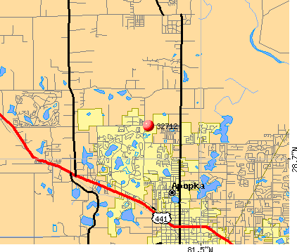 Apopka, FL (32712) map