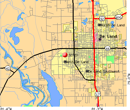 De Land, FL (32720) map