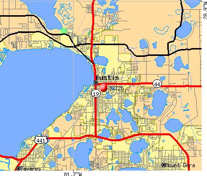 Eustis, FL (32726) map