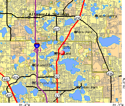 Maitland, FL (32751) map