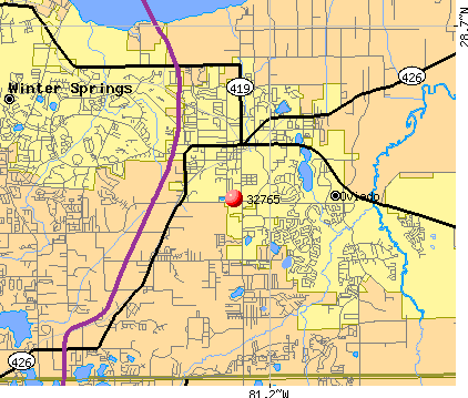 Oviedo, FL (32765) map