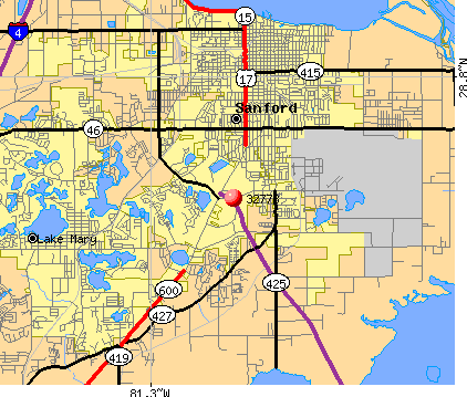 Sanford, FL (32773) map