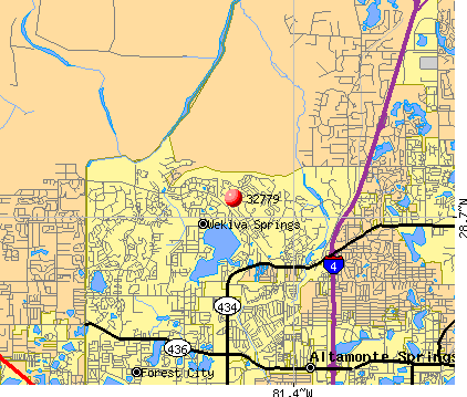 Wekiwa Springs, FL (32779) map