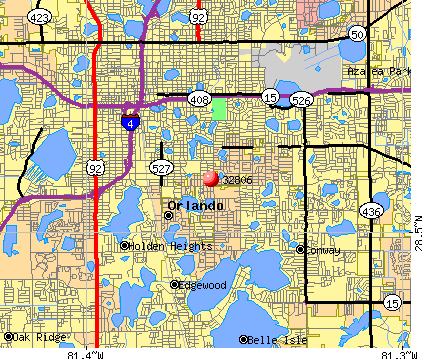 Orlando, FL (32806) map