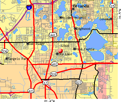 Belle Isle, FL (32809) map