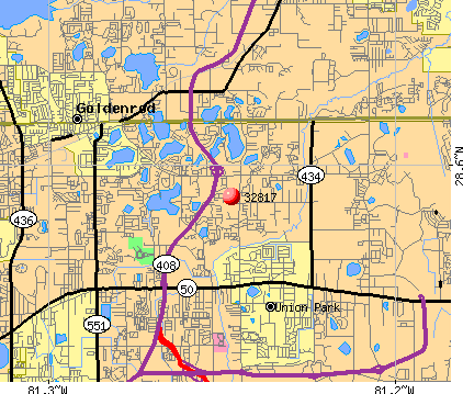 Union Park, FL (32817) map