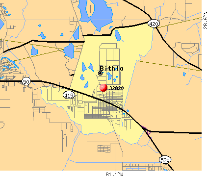 Bithlo, FL (32820) map