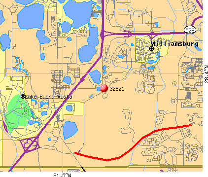 Williamsburg, FL (32821) map