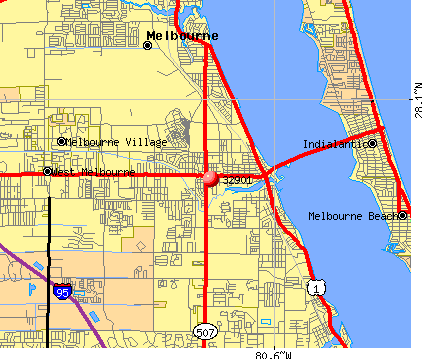 Melbourne, FL (32901) map