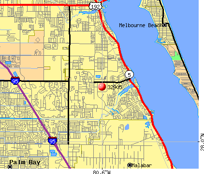 Palm Bay, FL (32905) map