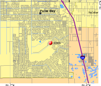 Palm Bay, FL (32909) map