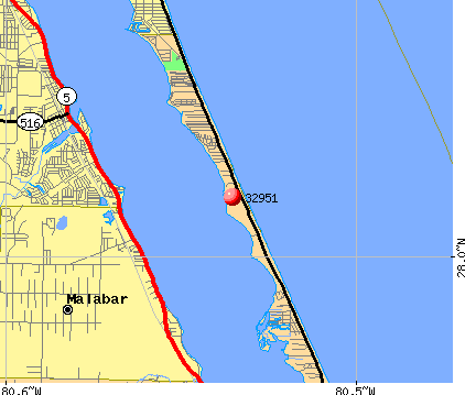 Melbourne Beach, FL (32951) map