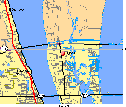 Merritt Island, FL (32953) map