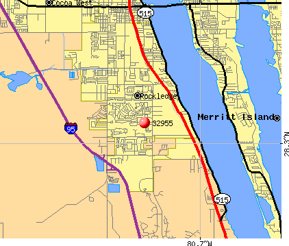 Rockledge, FL (32955) map