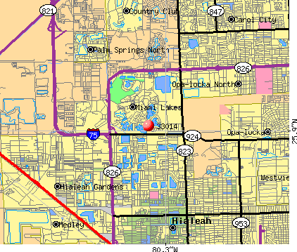 Miami Lakes, FL (33014) map