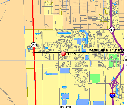 Miramar, FL (33029) map