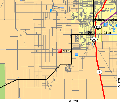 Florida City, FL (33034) map