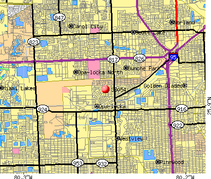 Opa-locka, FL (33054) map