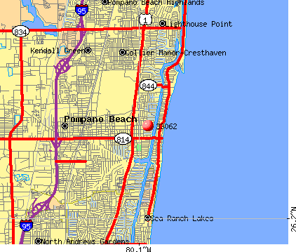 Pompano Beach, FL (33062) map