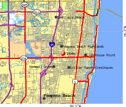 Pompano Beach, FL (33064) map