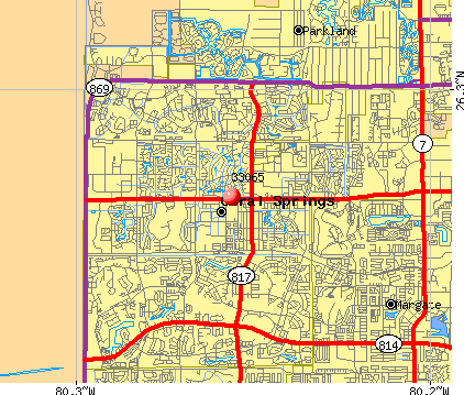 Coral Springs, FL (33065) map