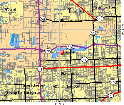 Miami, FL (33126) map