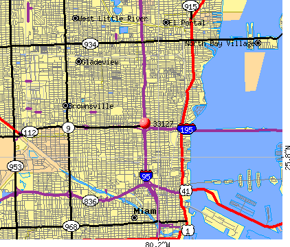 Miami, FL (33127) map