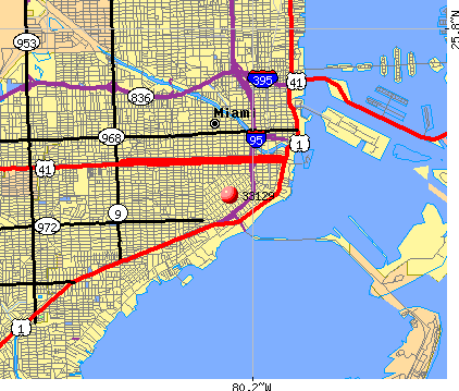 Miami, FL (33129) map