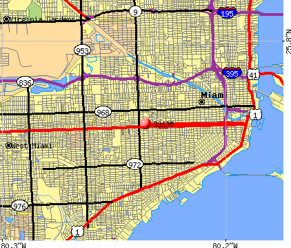 Miami, FL (33135) map