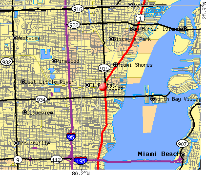 Miami, FL (33138) map