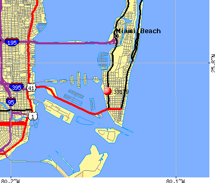 Miami Beach, FL (33139) map