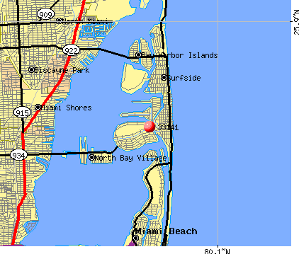 Miami Beach, FL (33141) map