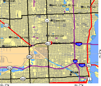 Miami Florida Zip Codes Map | Zip Code MAP