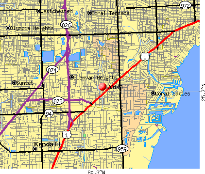 Glenvar Heights, FL (33143) map