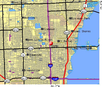 Miami, FL (33150) map