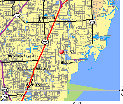 Palmetto Bay, FL (33158) map