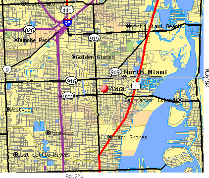 North Miami, FL (33161) map