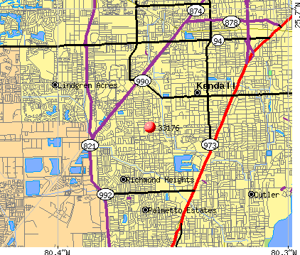 Kendall, FL (33176) map