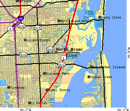 North Miami, FL (33181) map