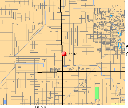 Richmond West, FL (33187) map