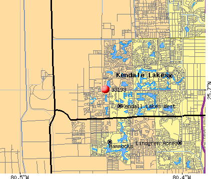 Kendall West, FL (33193) map