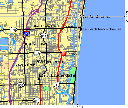 Fort Lauderdale, FL (33306) map