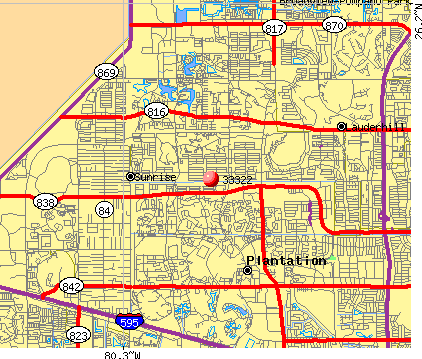 Sunrise, FL (33322) map